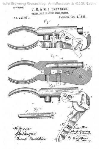 John Browning Patent 247881