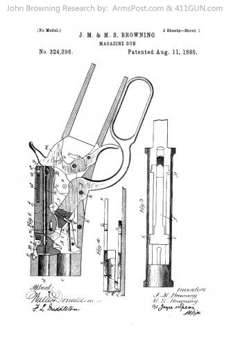 John Browning US Patent 324296 Drawing 1