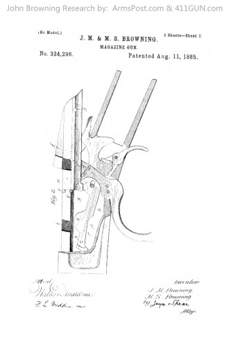 John Browning US Patent 324296 Drawing 2