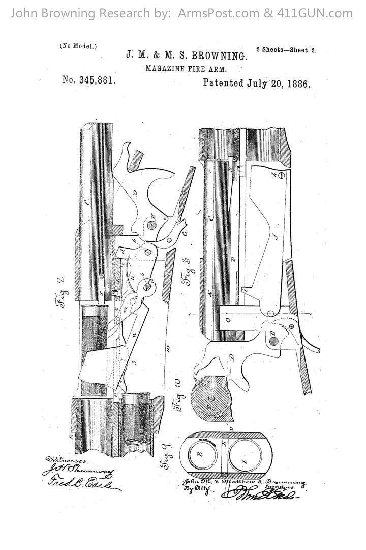 John Browning US Patent 345881 #2