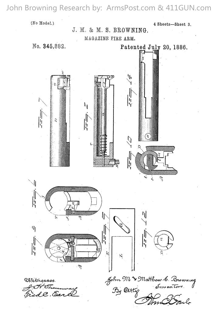 John Browning US Patent 345882 #3