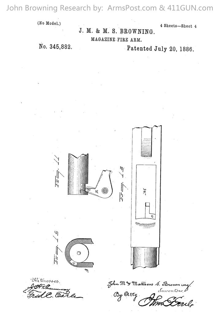 John Browning US Patent 345882 #4