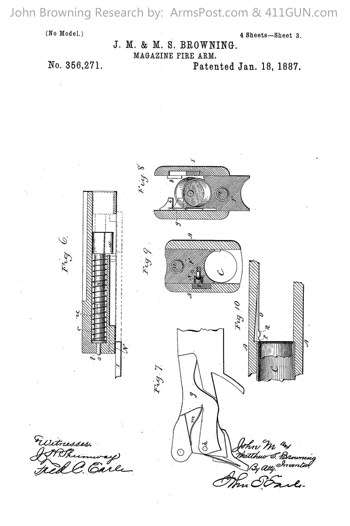 356271 John Browning US Patent Drawing 3