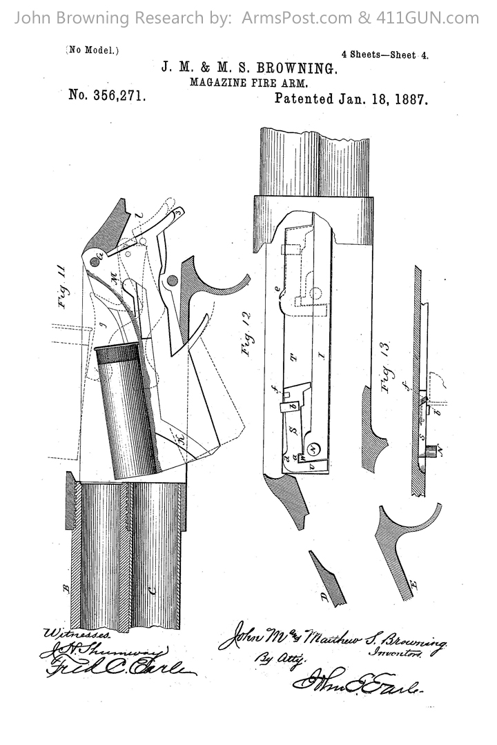 356271 John Browning US Patent Drawing 4