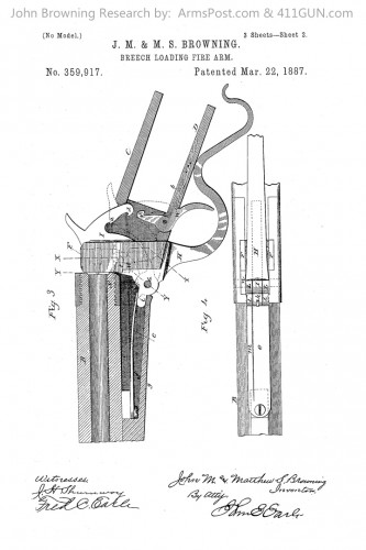 359917 John Browning US Patent Drawing 2