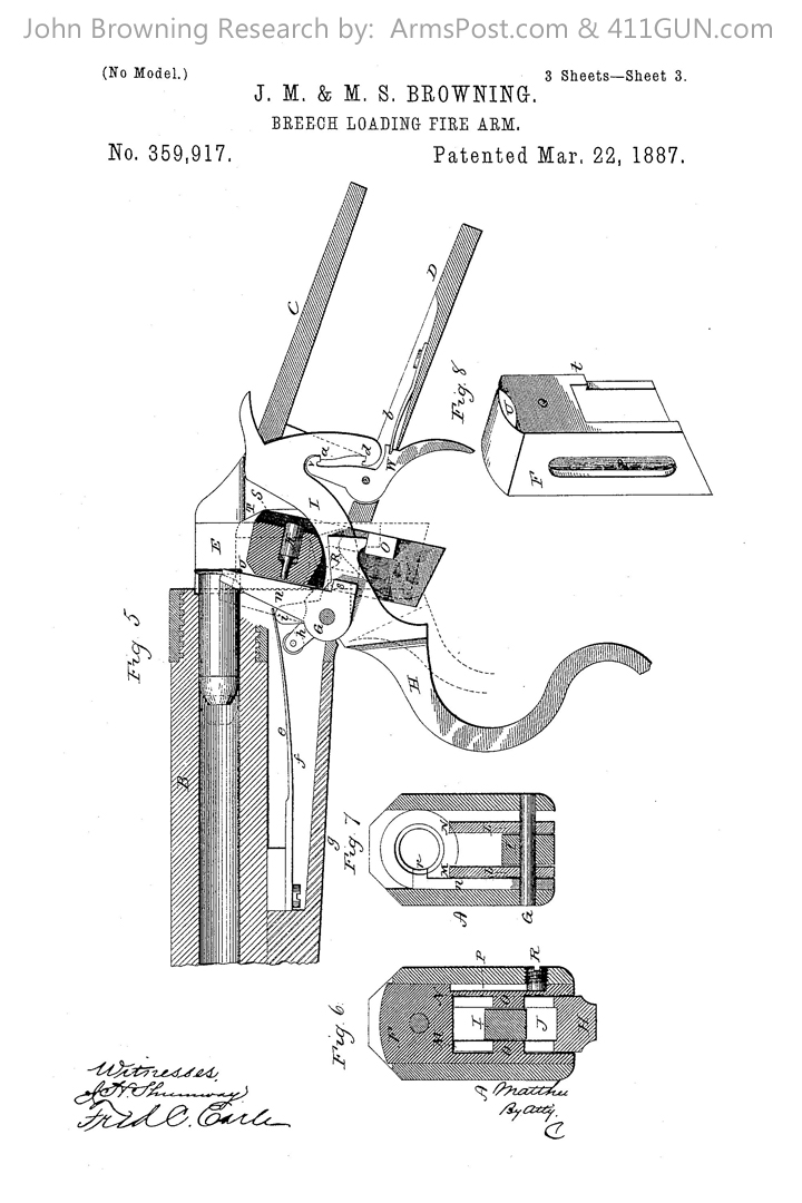 359917 John Browning US Patent Drawing 3