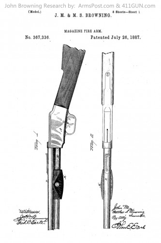 367336 John Browning US Patent Drawing 1