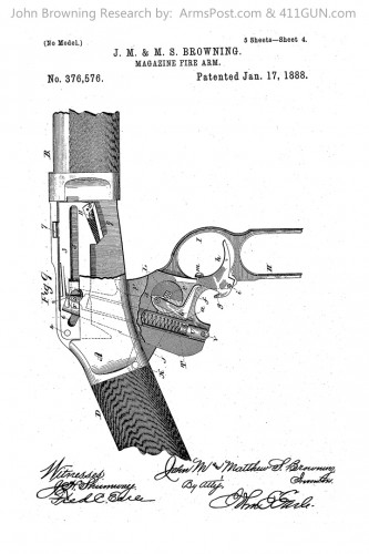376576 John Browning US Patent Drawing 4