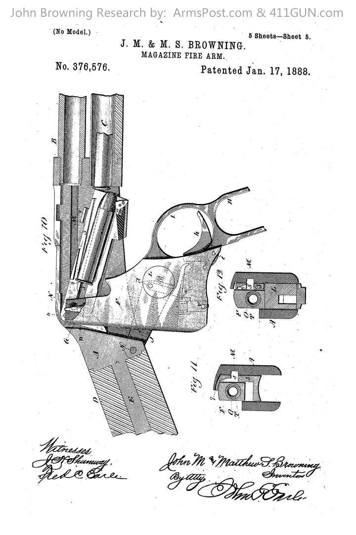 376576 John Browning US Patent Drawing 5
