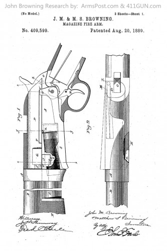 409599 John Browning US Patent Drawing 1