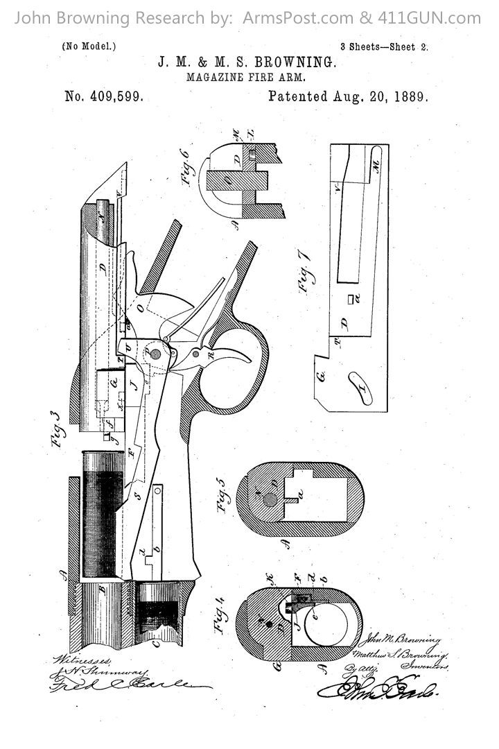 409599 John Browning US Patent Drawing 2
