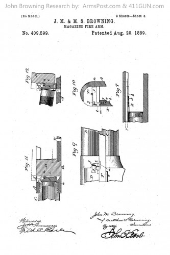 409599 John Browning US Patent Drawing 3