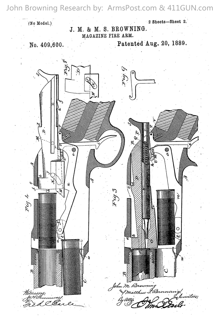 409600 John Browning US Patent Drawing 2