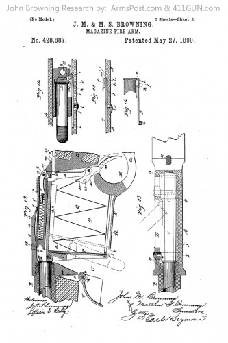 428887 John Browning US Patent Drawing 6