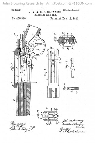 John Browning US Patent 465340 Drawing 4