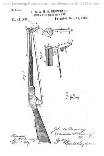 John Browning US Patent 471782