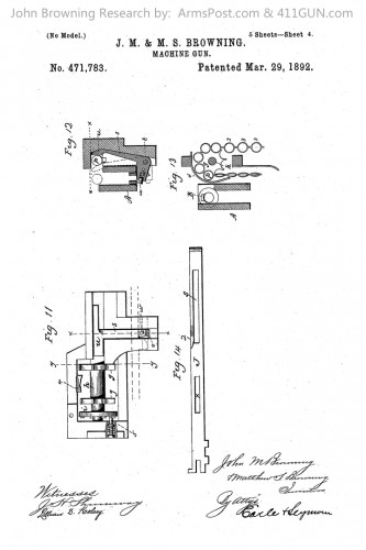 John Browning US Patent 471783 Drawing 4
