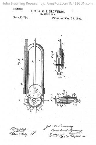 John Browning US Patent 471784