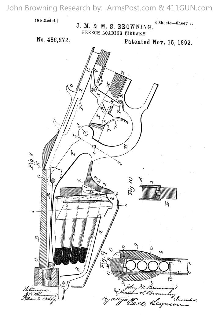 John Browning US Patent 486272