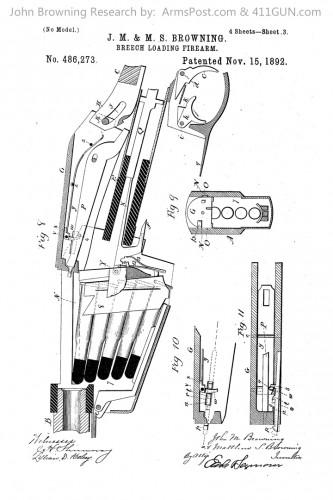 John Browning US Patent 486273