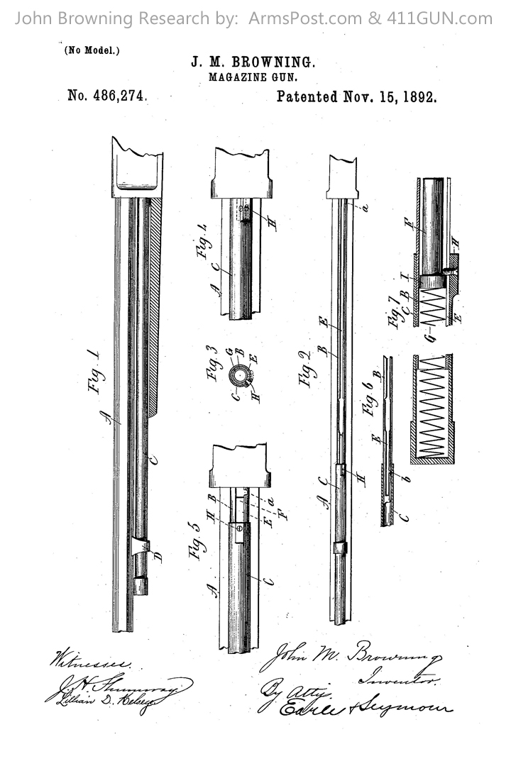 - 486274-John-Browning-US-Patent-Drawing