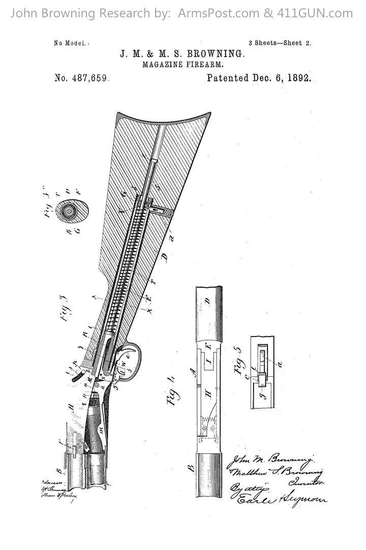 John Browning US Patent 487659