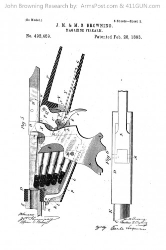 John Browning US Patent 492459