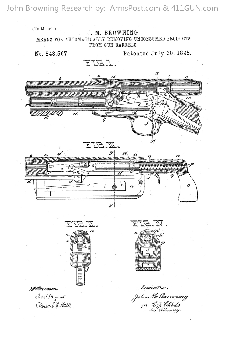 John Browning US Patent 543567