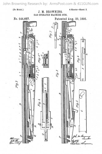John Browning US Patent 544657 Potato Digger Browning Peacemaker
