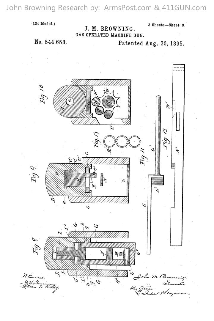 John Browning US Patent 544658 Browning Peacemaker