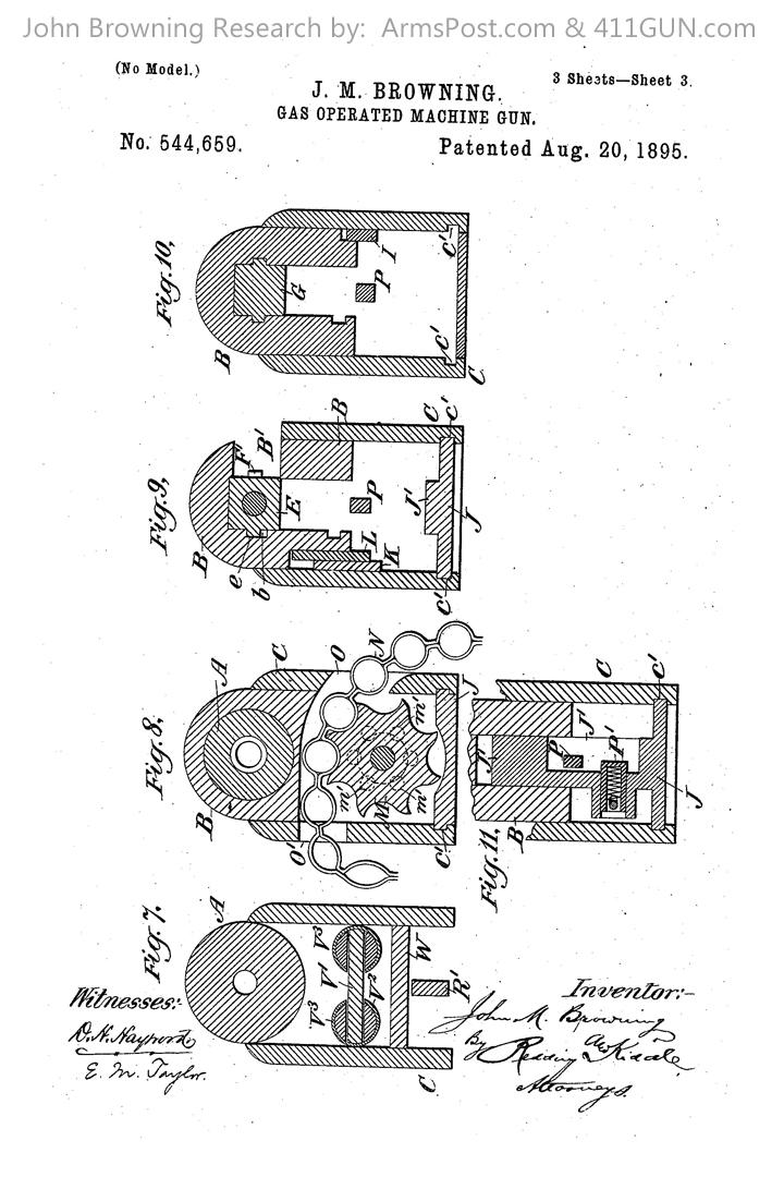 John Browning US Patent 544659