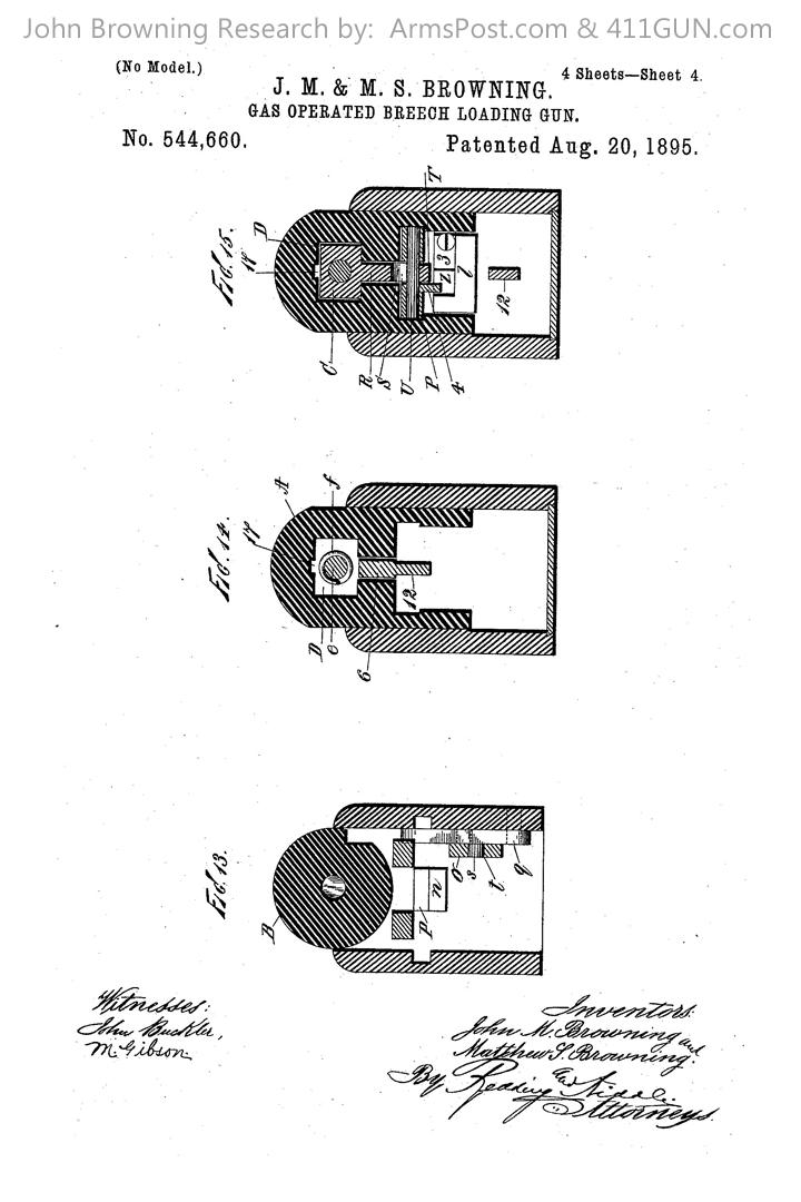 John Browning US Patent 544660
