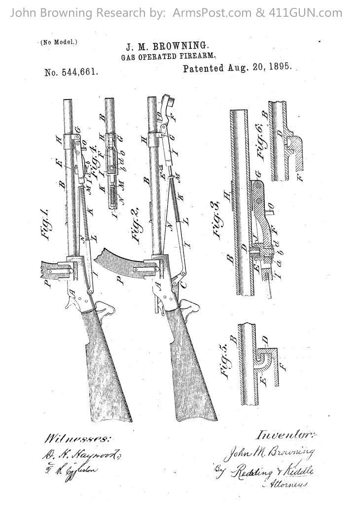 John Browning US Patent 544661