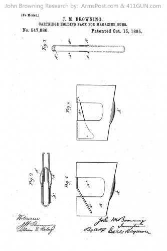 John Browning US Patent 547986