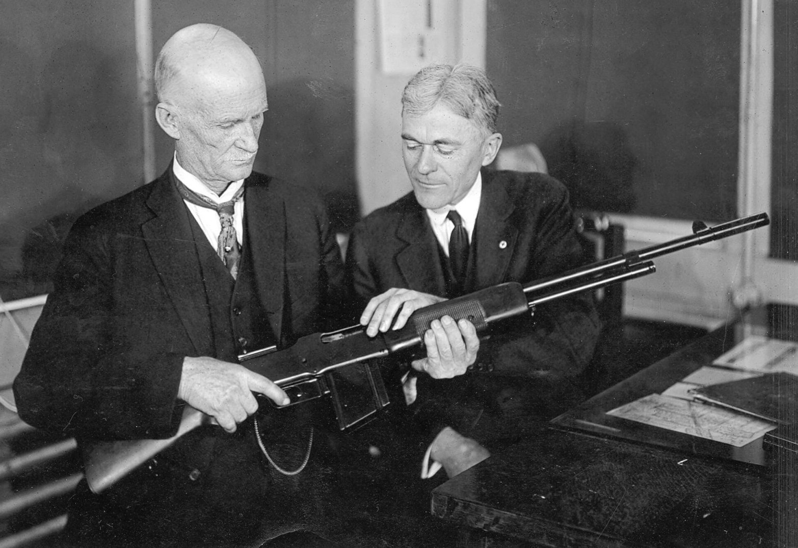 John Browning with his BAR