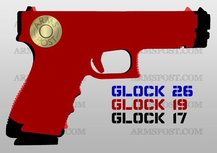 Glock 9mm Pistol Comparison 17 19 26
