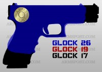 Glock 9mm Pistol Comparison 17 19 26
