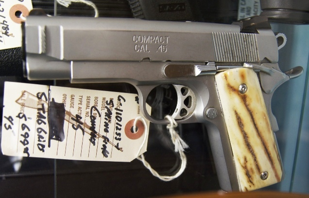 Springfield 1911 Compact 45 Stag Grips