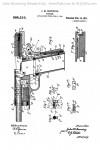 1911 pistol design by John Browning Drawing 2