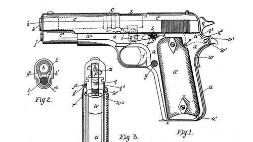 Colt m1911 Pistol by John Browning