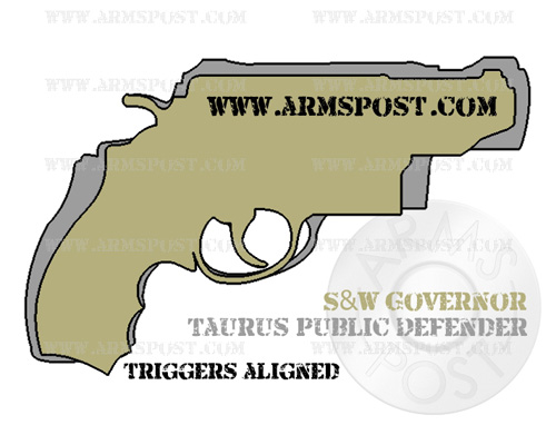 Taurus Judge and Smith Wesson Governor Revolver Size Comparison