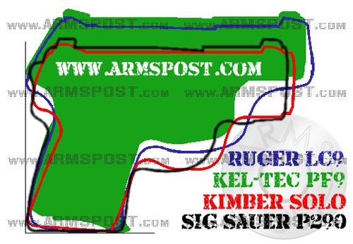 Kel Tec PF9 vs Ruger LC9 vs Sig Sauer P290 vs Kimber Solo micro 9mm pistol comparison