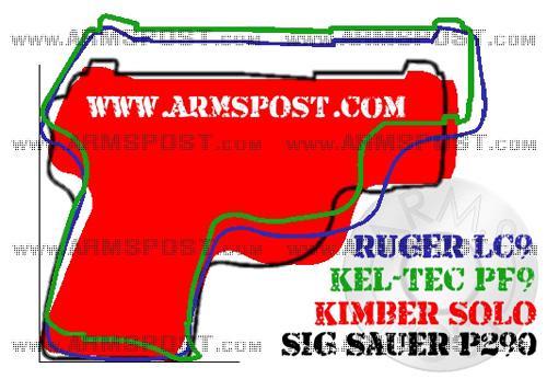 Kimber Solo vs Sig Sauer P290 vs Ruger LC9 vs Kel Tec PF9 micro 9mm pistol comparison