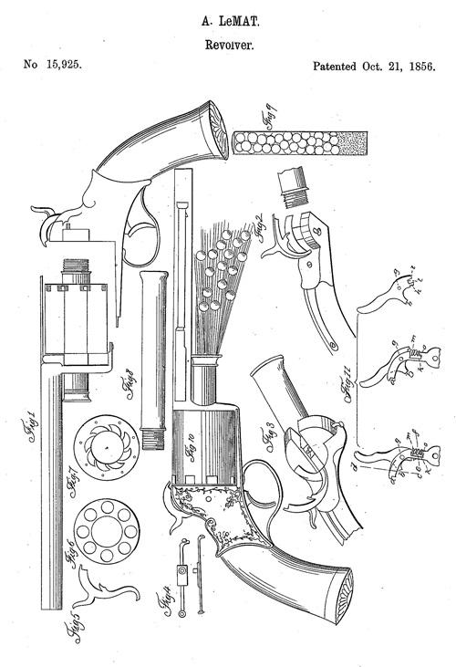 LeMat Revolver US Patent 15925