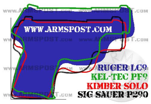 Ruger LC9 vs Sig Sauer P290 vs Kimber Solo vs Kel Tec PF9 Comparison