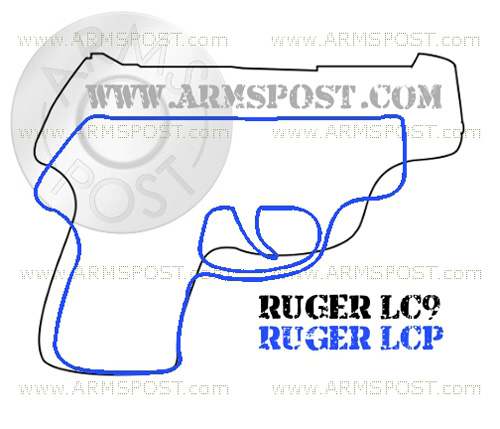 Ruger LCP vs Ruger LC9 Pistol Size Comparison