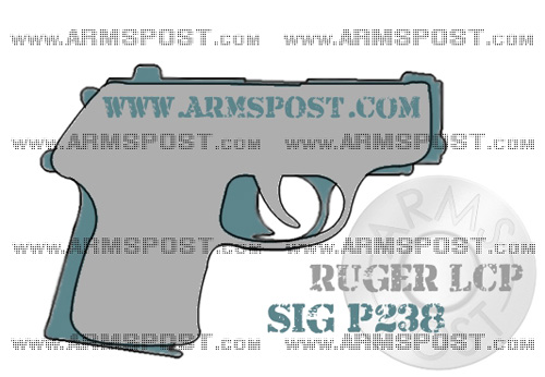 Ruger LCP vs Sig P238 Size Comparison