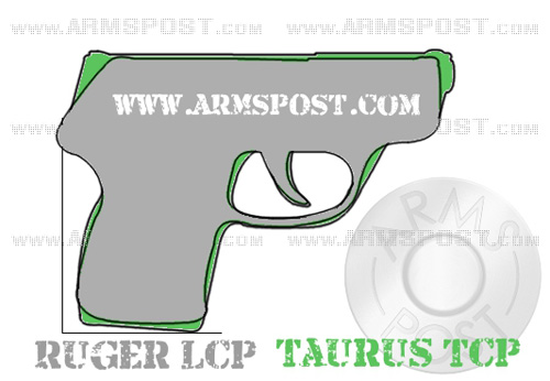 Ruger LCP vs Taurus TCP Pocket Pistol Size Comparison