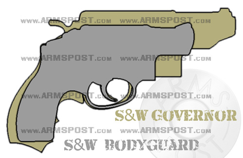 Smith & Wesson Governor vs Bodyguard 38 Revolver Size Comparison