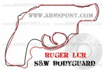 Ruger LCR vs S&W Bodyguard Revolver Size Comparison